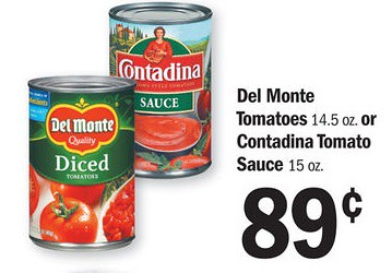 Del Monte Canned Tomatoes 0 64 Can At Meijer With Printable Coupon The Shopper S Apprentice