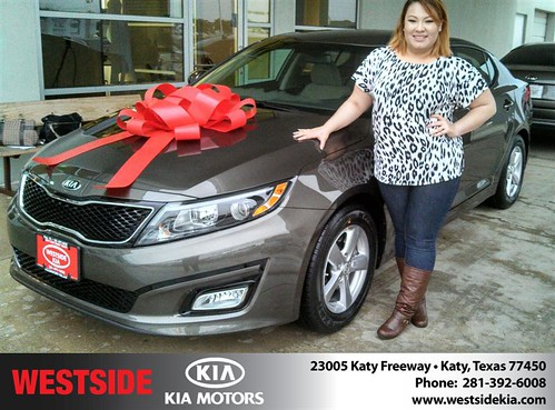 Congratulations to Alejandra  Aguilar  on your #Kia #Optima purchase from Gil Guzman at Westside Kia! #NewCar by Westside KIA