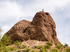 Guy on Top of Rock at Papago Park