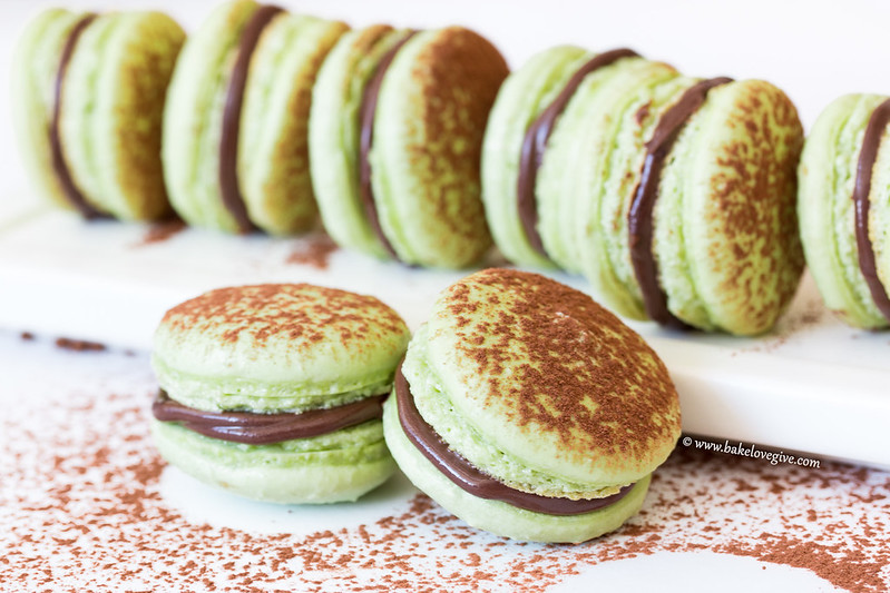 Chocolate Mint French Macarons Bake Love Give