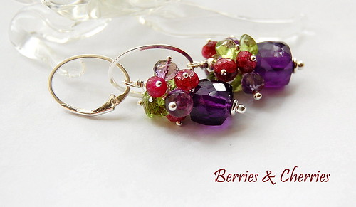 Berries & Cherries Earrings by gemwaithnia