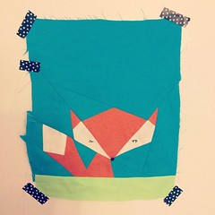 Lil' fox #firstquiltingattempt
