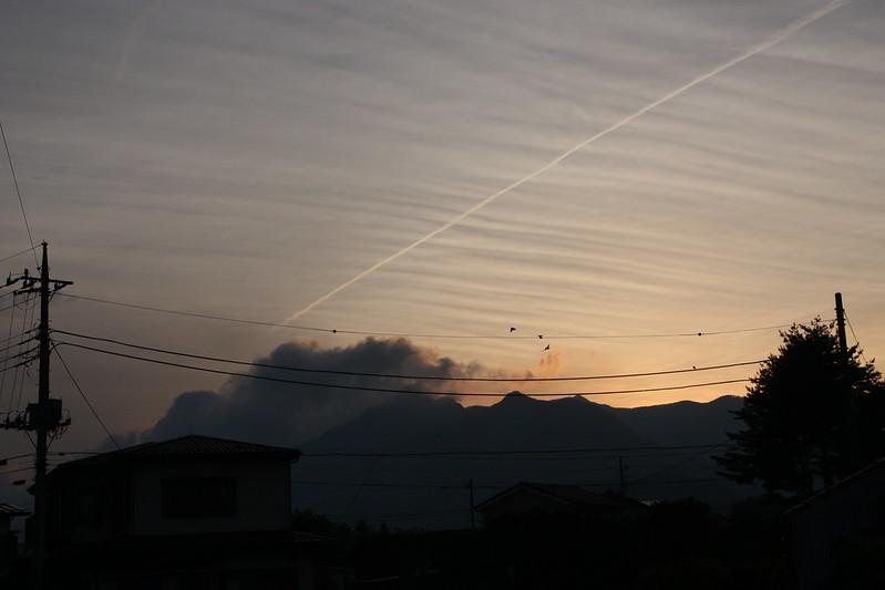 sundown in kawaguchiko