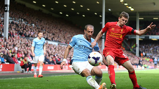 Liverpool 3-2 City: Match action