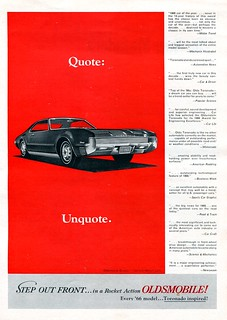 1966 Oldsmobile Toronado Advertisement Road & Track January 1966