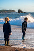 Ethan and Martha at Thurlestone beach-2 by David Soanes Photography