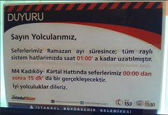 Ramazanda İstanbul ulaşım