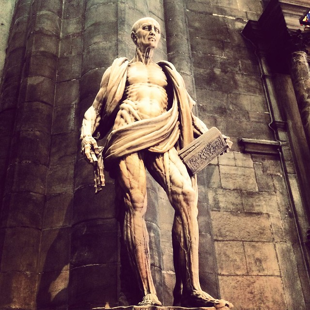 Saint Bartholomeus and his skin