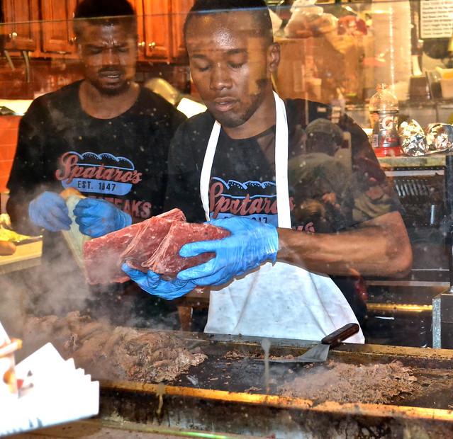philly cheesesteak - Reading Terminal Market Philadelphia
