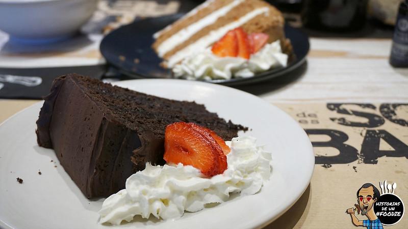Tarta de chocolate y zanahoria