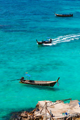 Floating longtail boats