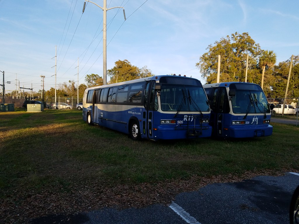 Retired Gainesville RTS Buses
