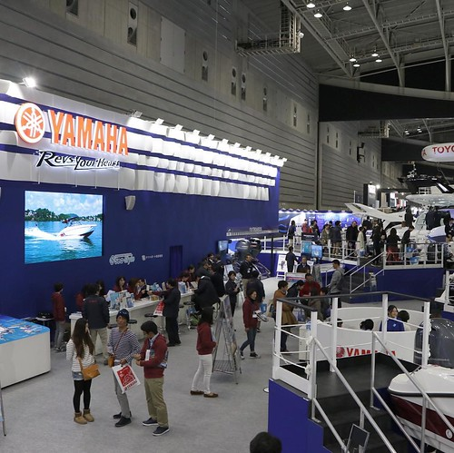 会場のブース、広い! #ヤマハマリン #ボートショー #ジャパンインターナショナルボートショー2017 #パシフィコ横浜