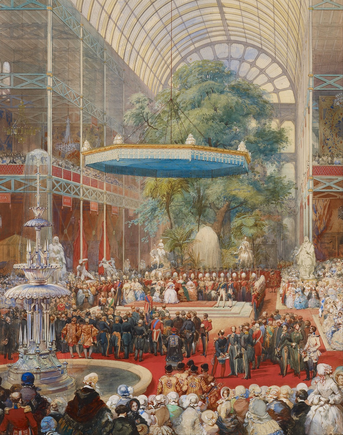 Opening of the Great Exhibition, 1 May 1851 by Eugène Louis Lami