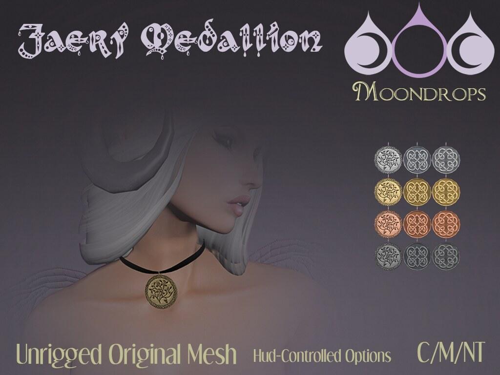 Moondrops - Faery Medallion - SecondLifeHub.com