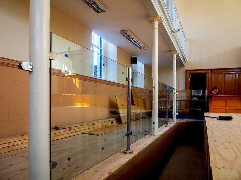 Boyle Courthouse glass panels