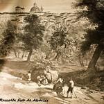 1840 Ariccia, XIX secolo, veduta di L. Haghe