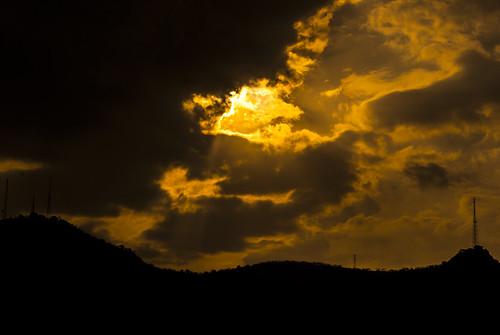 sunset sun sunlight mountain silhouette clouds escape flickrandroidapp:filter=none