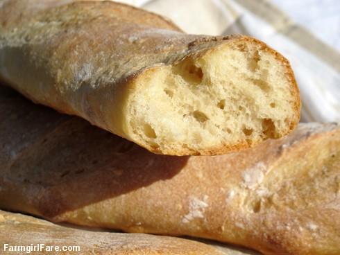 Farmgirl Fare: Easy French Bread Recipe: Four Hour Classic Parisian