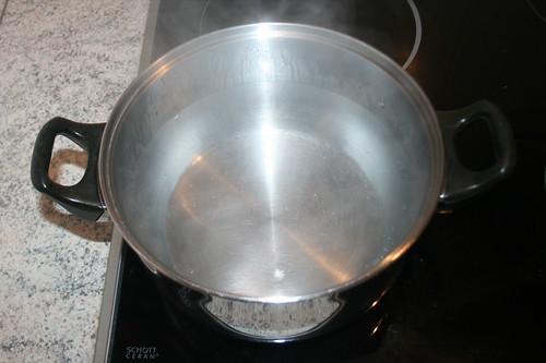 10 - Wasser aufsetzen / Heat up water