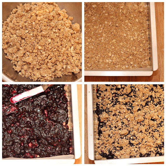 Blueberry Oat Bars c