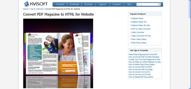 Showing PDF magazine on webpage