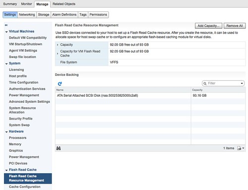 Introduction to vSphere Flash Read Cache aka vFlash | Yellow