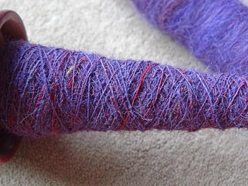 Fondant Fibres Purple Rolags 03