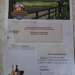 California Wine Club Invoice