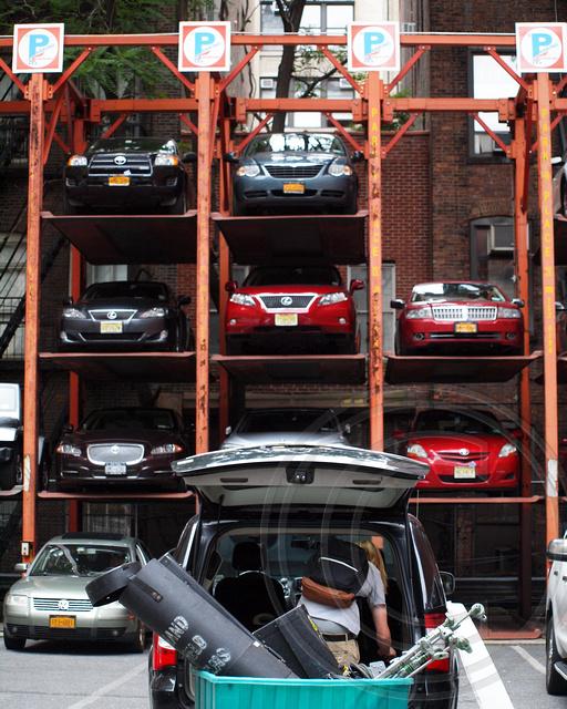 Elevator style parking garage midtown manhattan new york for New york city parking garage