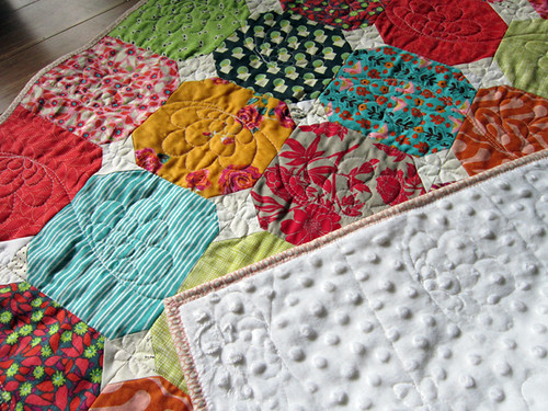 Clashy Bright baby quilt