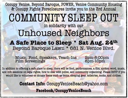 Occupy Venice Community Sleep Out
