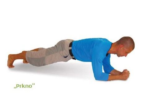 CVIČENÍ: Držte tělo vzpřímeně, předklon vyvolá pohyb