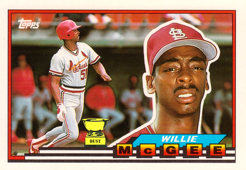 Baseball Card Bust Willie Mcgee 1989 Topps Big