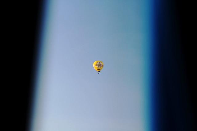 heißluftballon auf rückweg