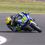 Valentino Rossi  46 With Sparks From His Elbow Protector Pity About The Poor Photo