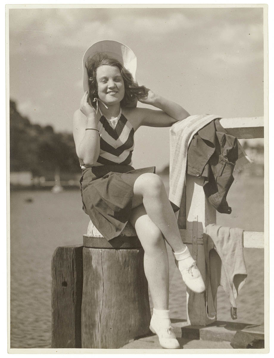 Portrait taken on the beach for newspaper, Sydney area, 193- / Sam Hood
