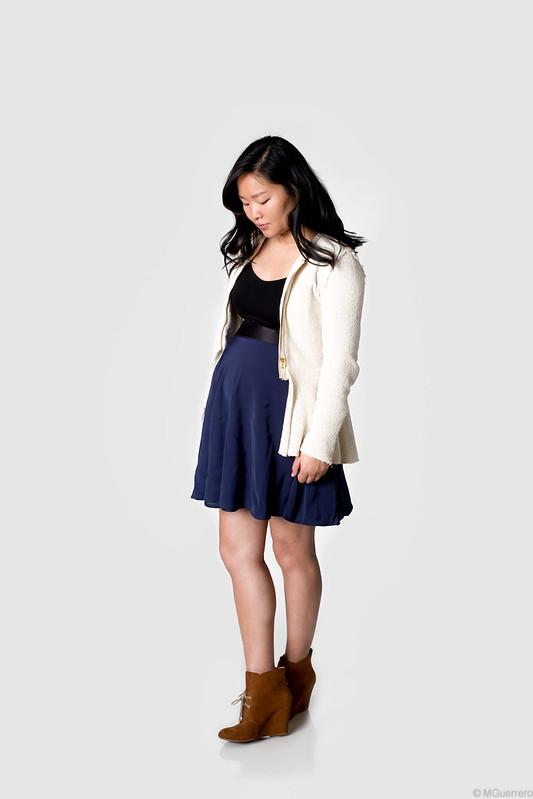 Zara peplum blazer, phillip lim target skirt, Zara wedge boots