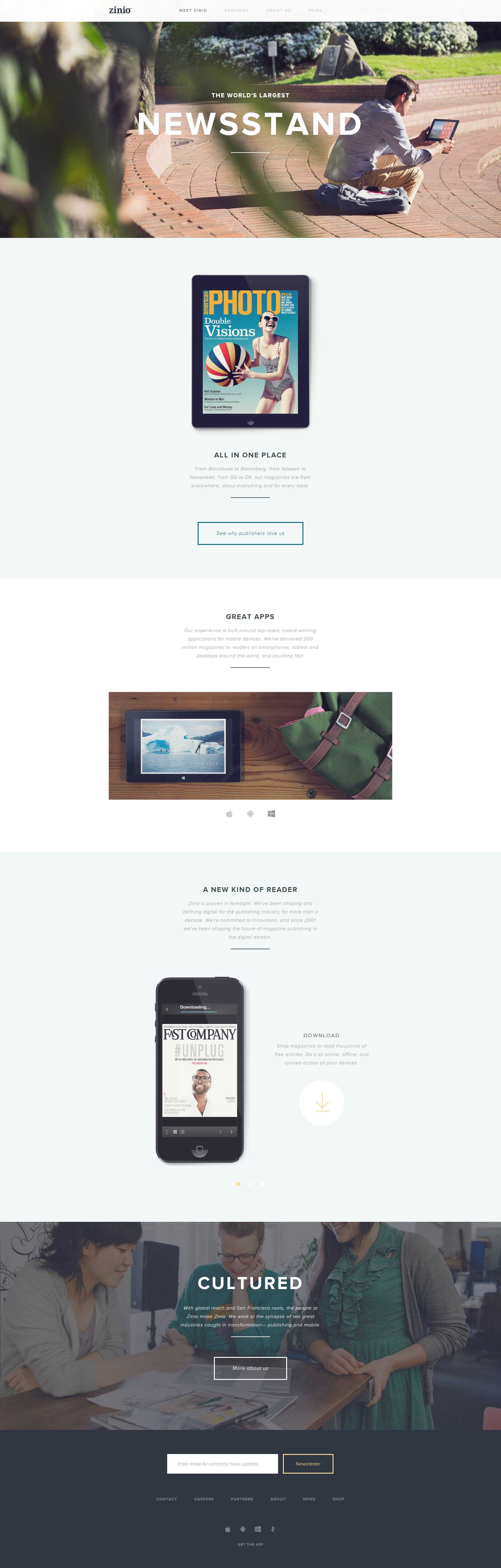 Zinio - Clean Website for Your Inspiration
