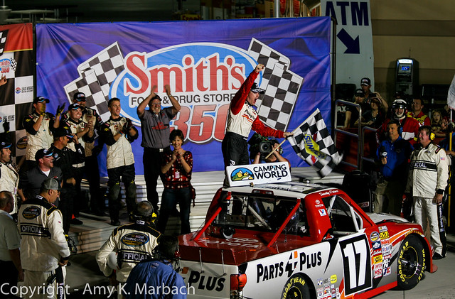 The Smith's 350 Victory Lane celebration with Timothy Peters.