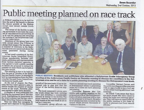 oct 2 2013 race track public meeting by CadoganEnright