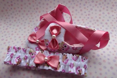 Kit - Sapatilha e Tiara by Cute for Baby by Mirian Rezende