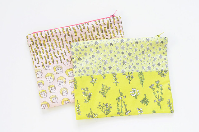 new zip pouches from original fabric designs