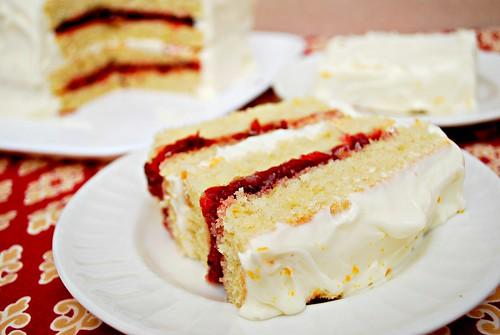 Orange Cranberry Layer Cake