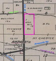 Kegebein land 1908