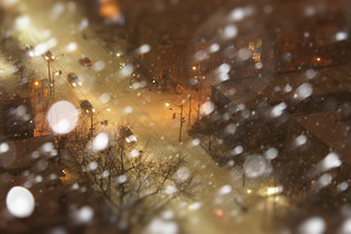Cozy Snowstorm in Chocolate Mini City :-)  #Flickr12Days