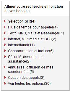 Choisir de nouvelles options   Mon Espace Client   SFR.fr