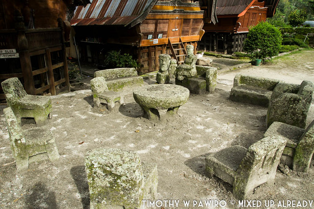 Indonesia - North Sumatra - Medan - Stone Chair of King Siallagan - Batak Traditional Village - Stone chair area (1)