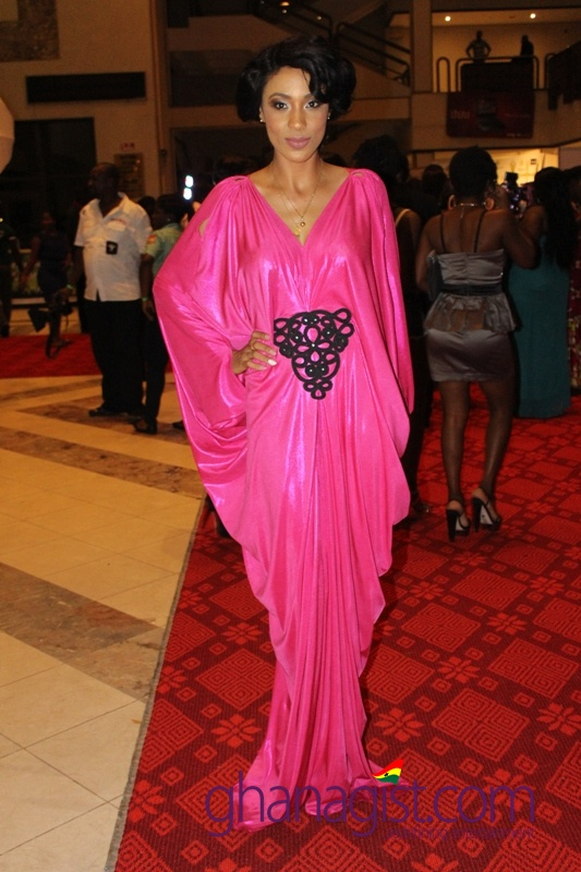 Nikki Samonas at Ghana Movie Awards 2013