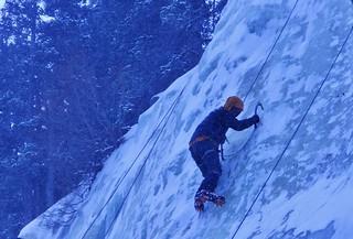 Ice Climbing at Jewell Lake